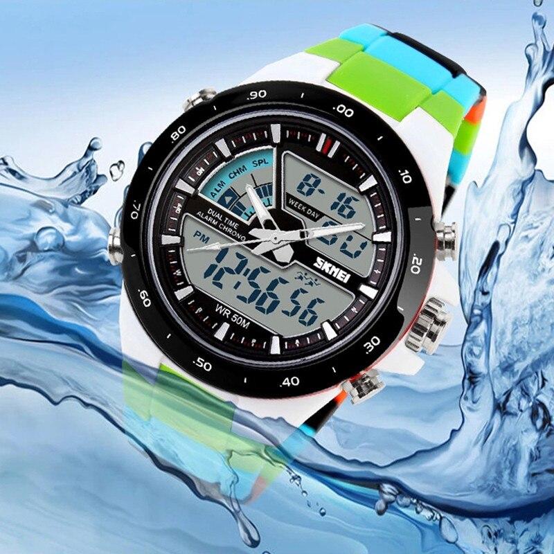 Nuevo 2017 de la marca skmei relojes de los hombres relojes deportivos reloj de buceo de natación de moda masculina multifuncional digital reloj militar relojes de pulsera