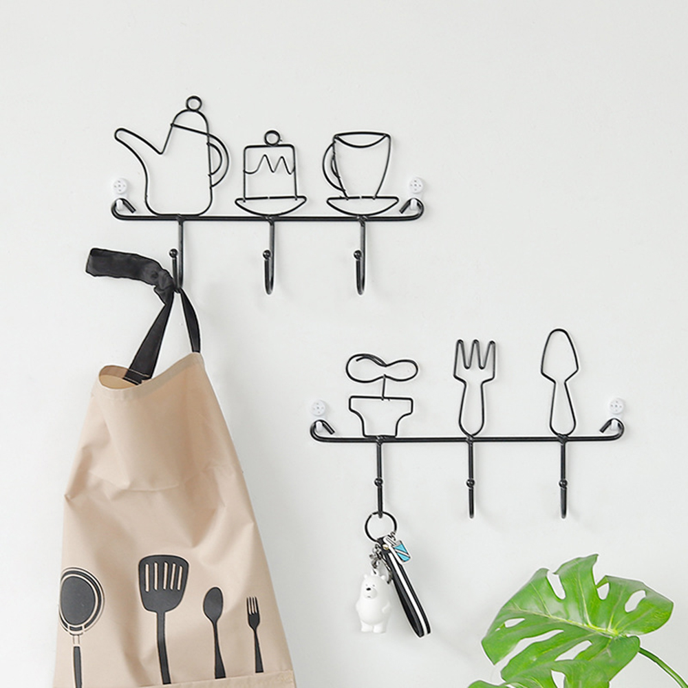 New Creative Wall Hook Clothes Hanger Hat Coat Key Rack Organizer Home Wall Decor Home Decoration 2019