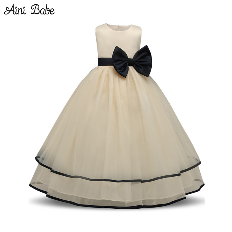 Aini Babe Baby Girls Clothes Children Clothing Girl Wedding Party Kids Tutu Dresses For Girls 4 5 6 7 8 9 Years Birthday Outfits
