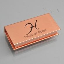 120pcs wholesale false eyelash packaging box lash boxes custom your logo fake 3D mink lashes strip magnetic packing case empty