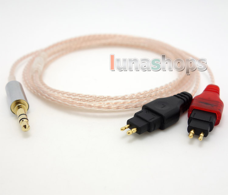 3.5mm Pure 99.777% OCC Cable For Sennheiser HD650 HD600 HD580 HD525 HD565 Headphone LN004077 120cm pure pcocc earphone cable pep insulated for sennheiser hd25 1 sp hd650 hd600 hd580 hd525 hd565 headphone ln004887