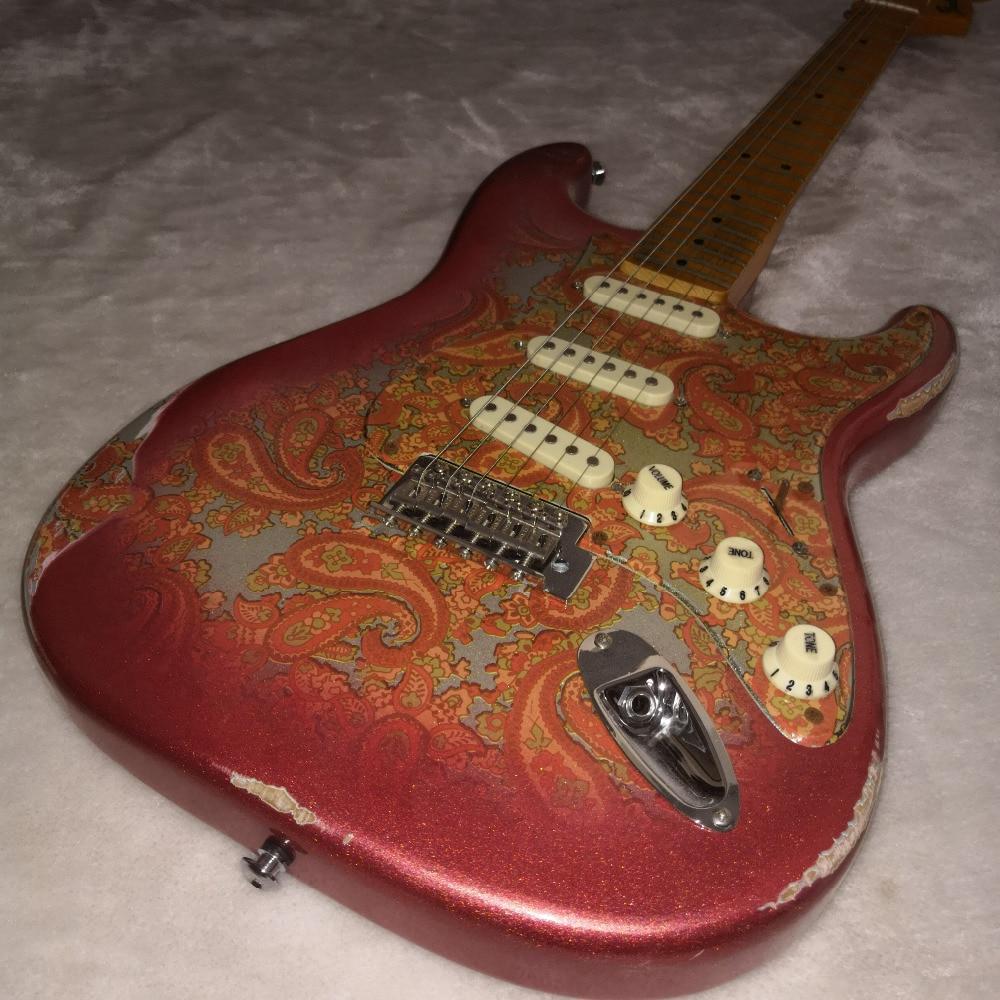 Prince marque Nuage guitare À La Main Relique Héritage Collecteur Custom Shop Yuriy Shishkov Masterbuilt 68 Rose Paisley Relique