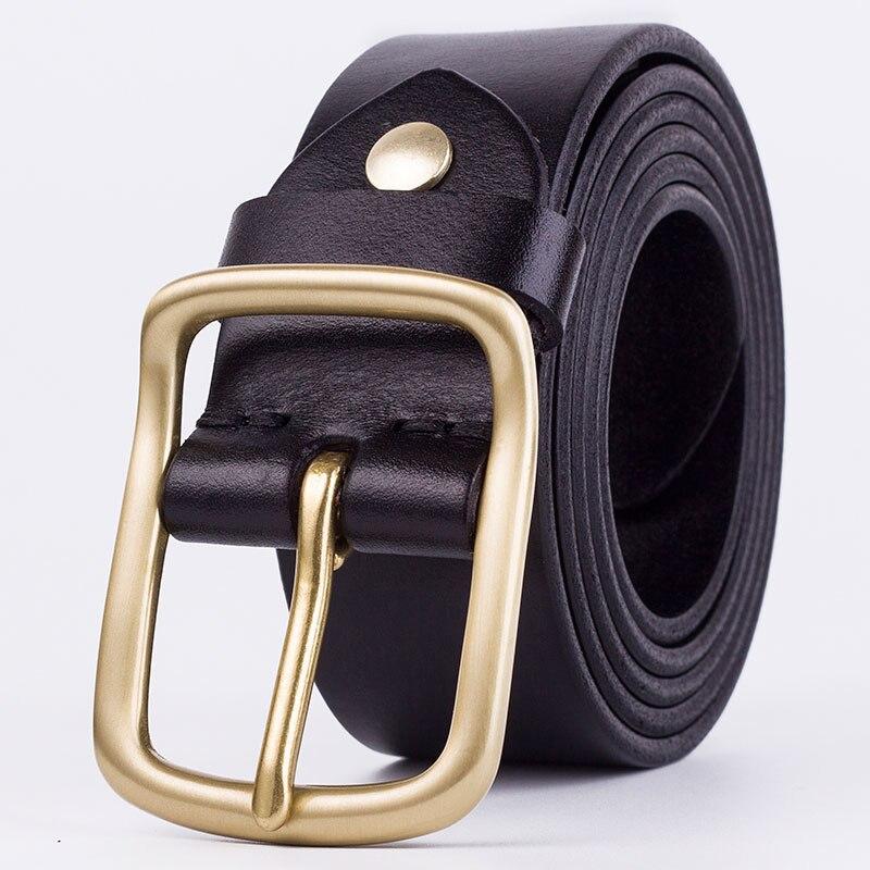 Badinka New Luxury Brand Designer High Quality Genuine Leather Men Belt Vintage Wide Pin Buckle Belt for Men Male Jeans Strap