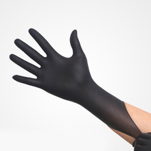 100/25PCS Disposable Latex Medical anti-virus Gloves Universal Cleaning Work Finger Gloves Protective for Safety Black ST04