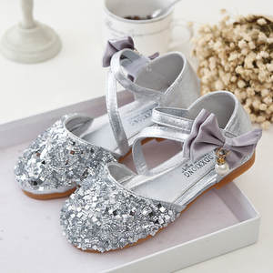 Shoes Girls for Pearl Children's Sequin Bowskin Princess -6 Fashion