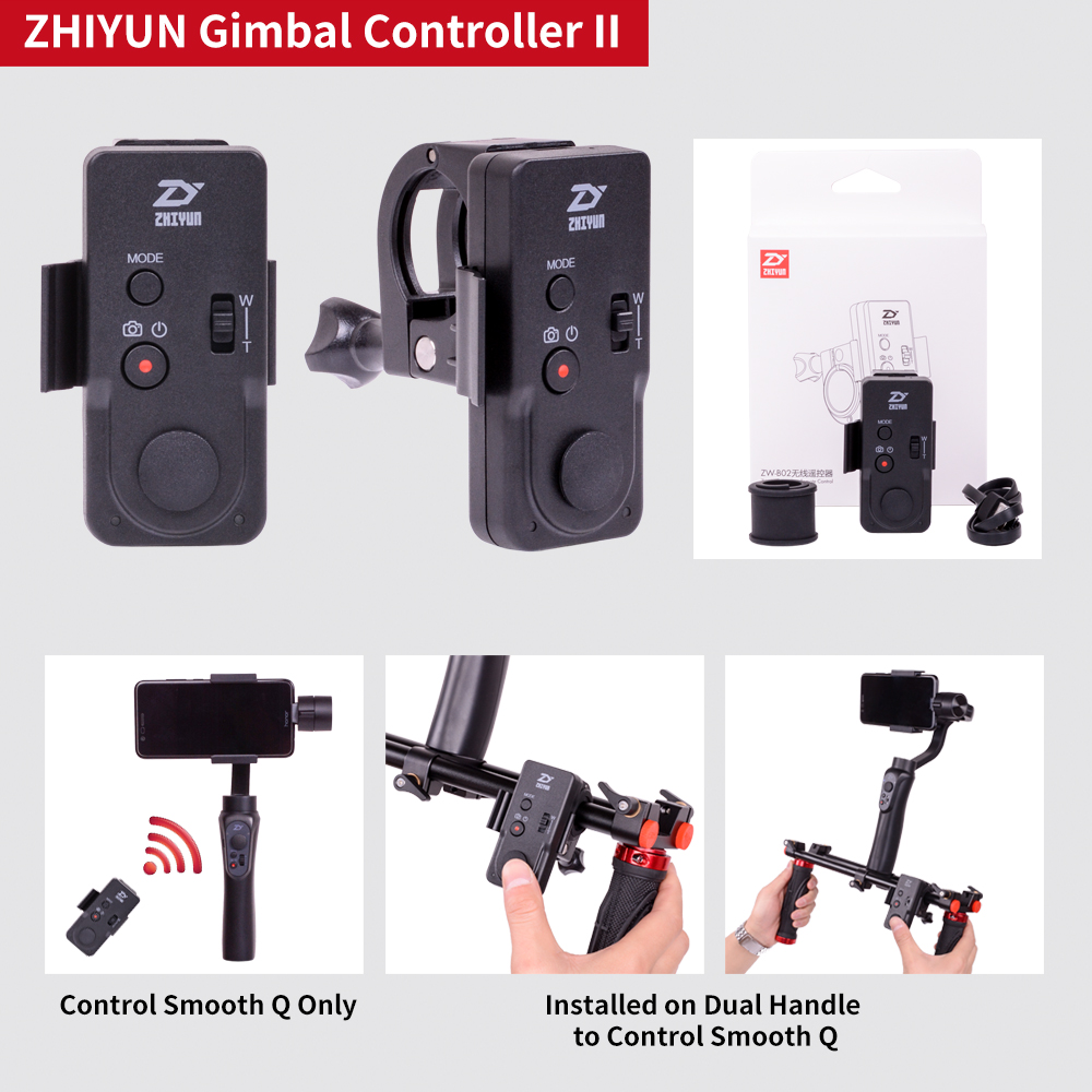 Zhiyun Smooth Q 4 Smartphone Handheld 3 Axis Gimbal Tech Ii Stabilizer For Smartphones Iphone Action Camera Gopro Tripod Microphone Led