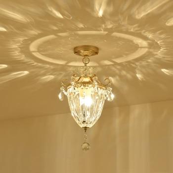 Crystal plafondlamp Hal Foyer Entree Xuanguan Gang Bar Balkon Verlichting Eenvoudige Europese Kristal Plafondverlichting wl3241748
