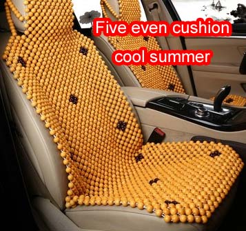 Summer car wooden bead cushion cool pad high quality wooden bead hemming process