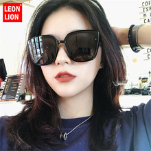 Leonlion 2019 Square Big Frame Sunglasses Women Candy Colors Gradient Glasses For Classic Wild Mirror Small Fac Unisex