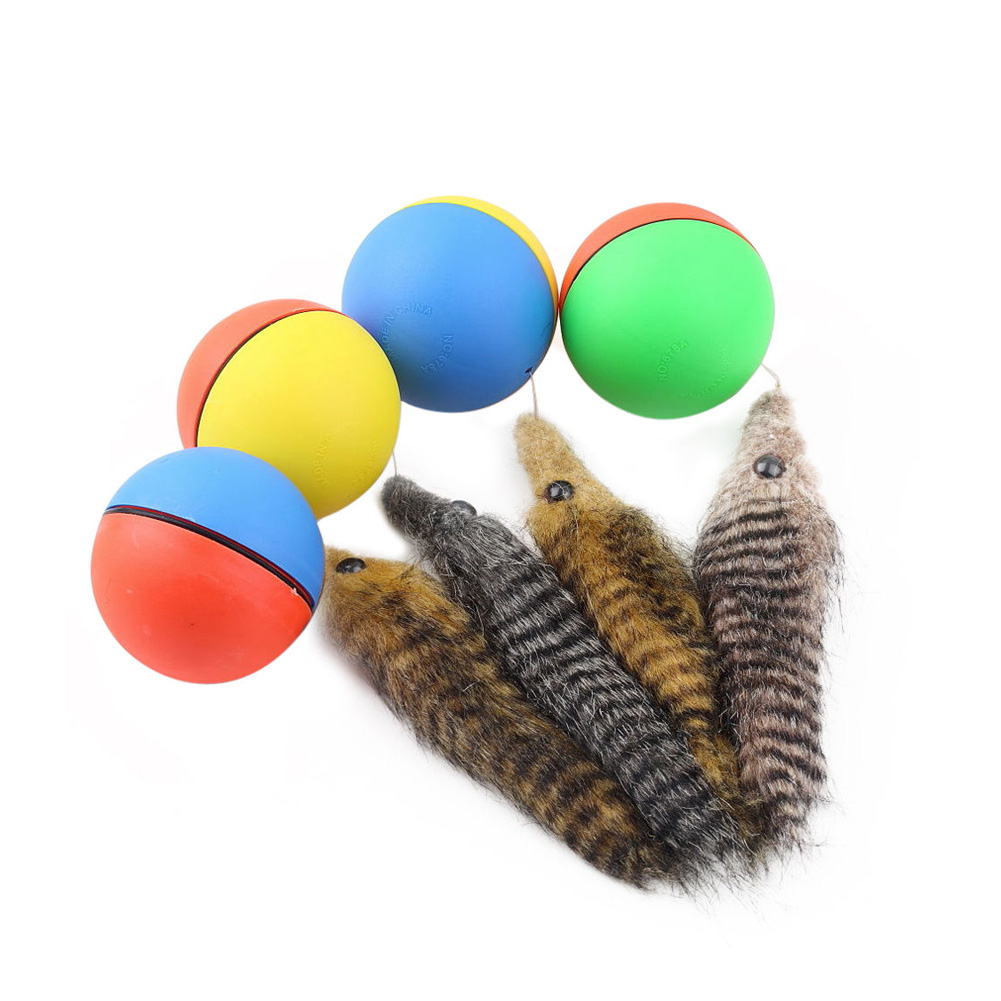 Dog Cat Beaver Weasel Puppy Rolling Play Random Alive New Pet Toy Jump Ball