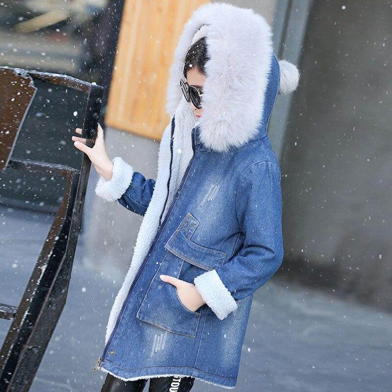 Nouveau épais hiver enfants vestes filles garçons manteaux à capuche en fausse fourrure col vêtements d'extérieur pour enfant coton rembourré bébé fille garçon Snowsuit