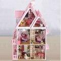 Дом с мебелью из ручной деревянный дом diy подарки на день рождения 3D головоломки для взрослых и любителей дом мечты детей