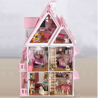 Doll House With Furniture Handmade Wooden House Diy Birthday Gifts 3D Puzzles For Adults And Lovers