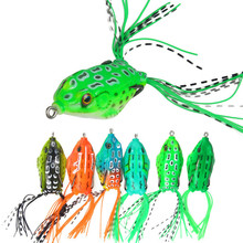 6Pcs/lot 6cm 14g Isca Artificial Frog Wobblers Soft Fishing Lure With Bass Hook For Sea 3D Eyes Lifelike Soft Bait hengjia 32pcs 3 5g fishing lure worm jighead hook for bass fishing hook soft bait artificial lure