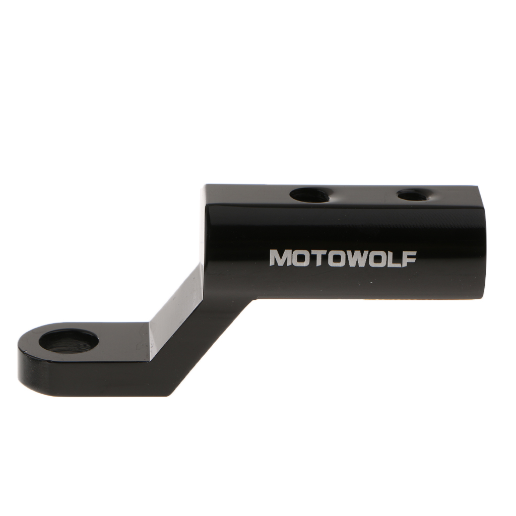 1 Pcs Motorcycle Electric Bike Rearview Mirror Extension Bracket Holder For Mobile Phone Handlebar Mount Stand 10.5mm Screw Hole