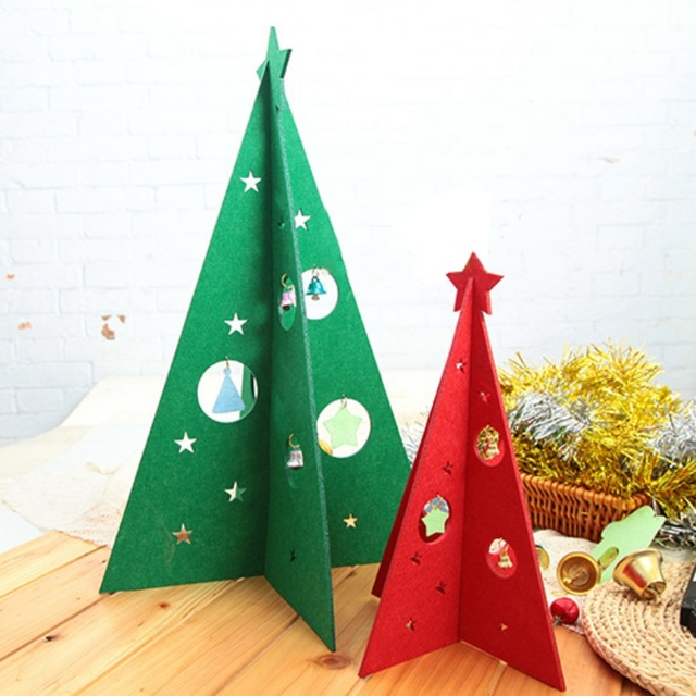 2 colors red green christmas felting christmas tree christmas decorations for home new year 20cm 30cm - Why Are Christmas Colors Red And Green