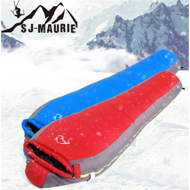 Outdoor Camping Waterproof Splicing Sleeping Bag Mummy Sleeping Bag Polyester Pongee Warm Foam Quilt with Cap kingcamp 220x75cm camping sleeping bag polyester winter warm outdoor sleeping bags with compression bag