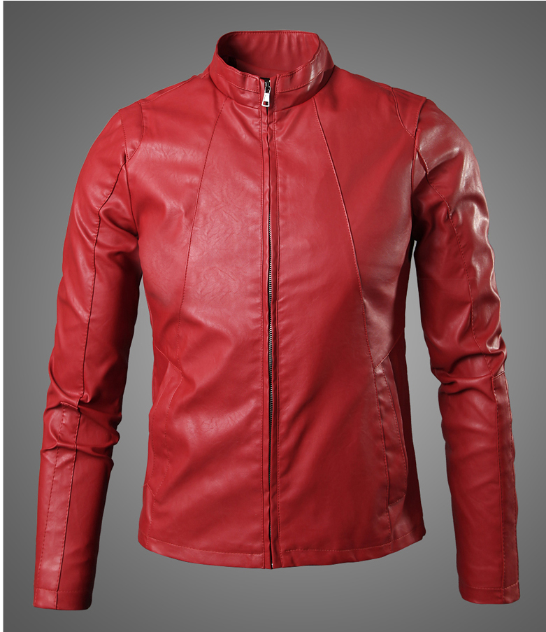 4af4edd963762 Detail Feedback Questions about New Cool Design Red Faux Leather Jacket  fashion Men Motorcycle Biker Jacket Suede Slim Windproof Coat Jaqueta Couro  ...