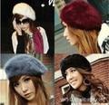 2016 Korean women Winter hats skullies beanies Fashion All-match Rabbit Beret Wholesale Female Princess Hat Painter