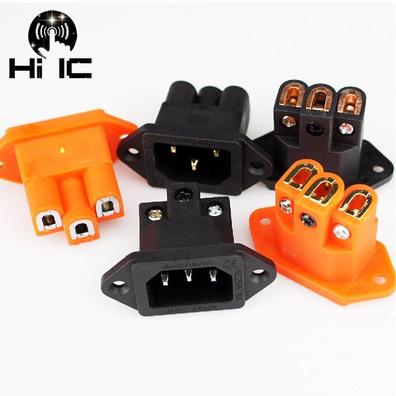 Aucharm IEC 4N Purple copper gold-plated 10A//250V HIFI REC AC Power socket