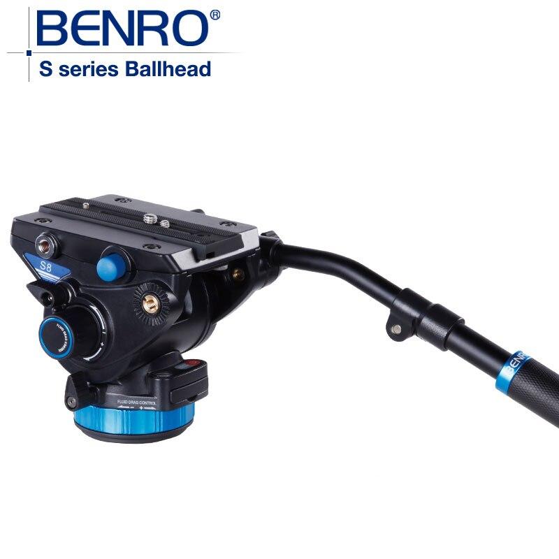 BENRO S8 Видеоголовка С Серии Профессиональное Видео Глава QR13 Quick Release Plate Для HDV Фотографов Максимальная Нагрузка 8 кг