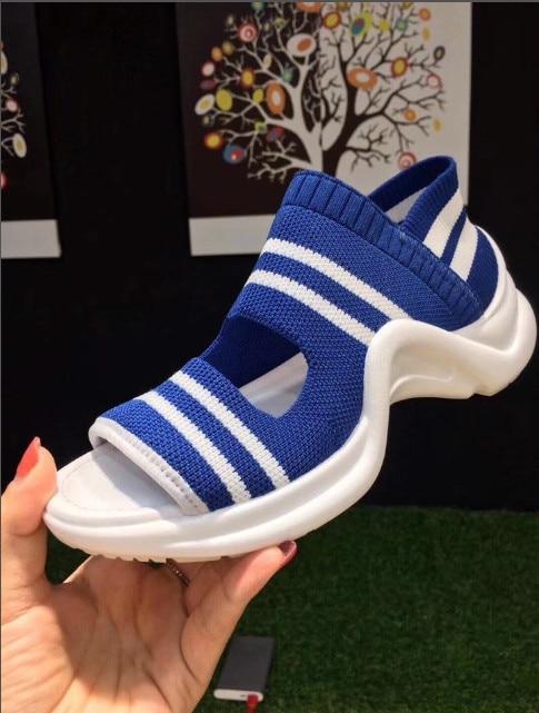 Sapatos Picture Femmes as Picture Sur Couleurs Tissu Stretch Formateurs Slip De Feminino Les Shoes2018fashion Marque Casual formes Rouge Bleu Bonbons As Chaussures Plates 1xF0afnwqB