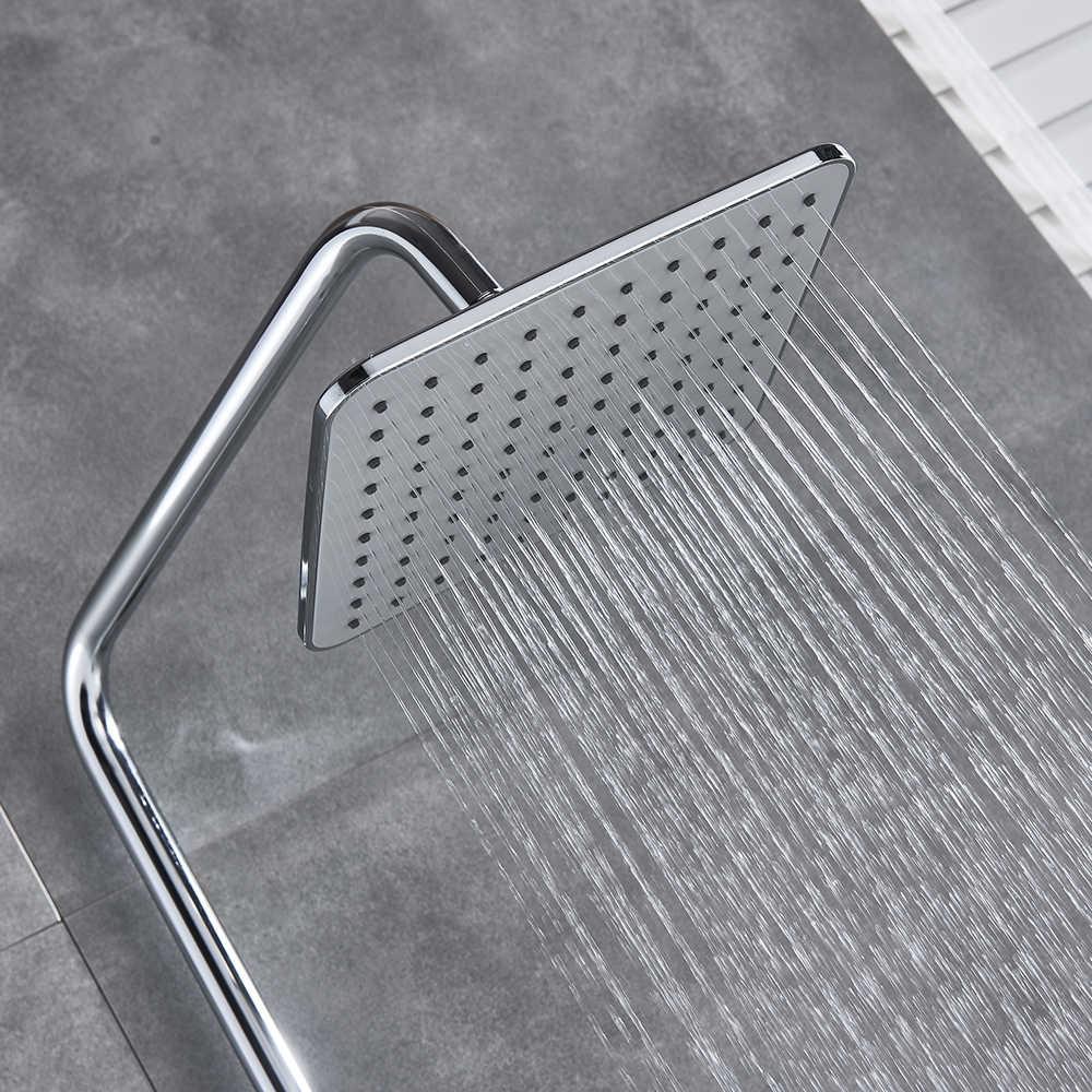 Chrome Shower ก๊อกน้ำก๊อกน้ำอาบน้ำระบบชุดฝักบัวดิจิตอลจอแสดงผลอุณหภูมิฝักบัวอ่างอาบน้ำแตะ