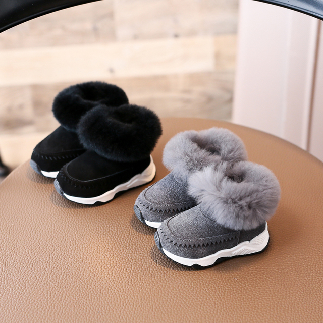 Nauhutu classic designer s winter fur boots toddler baby girl or boy fit  snow shoes outside infant warm new born shoe toddler 42906ef46d15