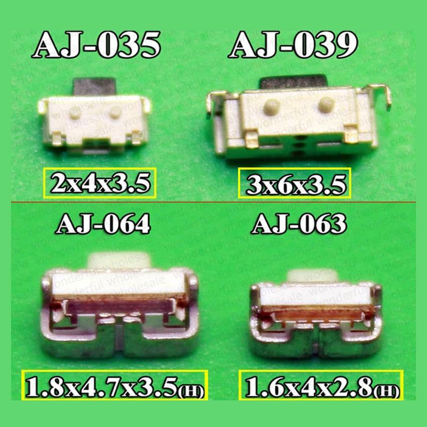 Power on/off/interruptor de volume de energia botão 4mm 5mm para samsung i9100 i717 i777 T989 D710 Sll I9300 I9305 S3 III Nota Nota 2 II