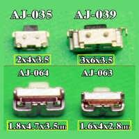 Ligar/desligar/interruptor de volume de energia botão 4mm 5mm para samsung i9100 sll t989 d710 i777 i717 i9300 i9305 s3 iii nota 2 ii