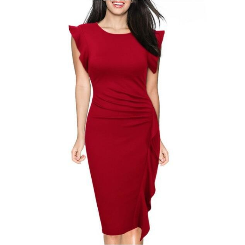 0ebd445bbc ... Off the shoulder Jumpsuits Overalls Barboteuse Chest Wrapped Elastic  Waist Back Hollow out. US  15.83. FD3514 Lady Short Flare Sleeve Pencil  Dress ...
