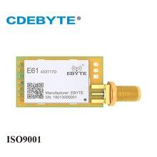 E61 433T17D 433 mhz 50mW SMA เสาอากาศ IoT uhf ไร้สายต่อเนื่องเกียร์ 433 mhz ข้อมูลเครื่องส่งสัญญาณ