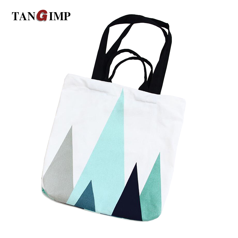 TANGIMP Nordic Geometry Handbags Canvas Eco Daily Female Cotton Single Shoulder School Shopping Bags Tote Women Beach Bags 2017 термокружка rondell rds 496 latte 450ml page 9