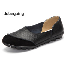 New Women Real Leather Ballet Shoes Moccasins Mother Loafers Soft Slip on Leisure Flats Female Driving Casual Footwear 5 Colors
