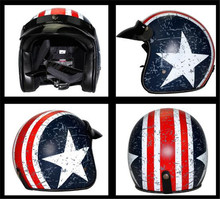 Hot sale Voss brand casque moto capacete motorcycle helmet vintage high quality 3/4 open face Halley helmets DOT
