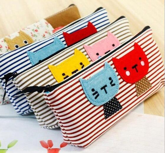 Cute Lovely Mini Pen Case Canvas Cosmetic Bag font b Makeup b font Brush Case