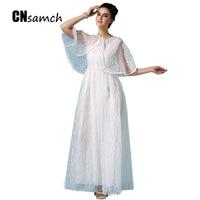 High Quality Free Shipping Senior Pure White Female Dress Elegant Organza Stereo Switch Shawls Dress for Female Show Slim