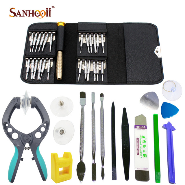 38in1 Smart Cell Mobile Phone Screen Opening Repair Tools Screwdriver Plier Pry Disassemble Tools set Kit For iPhone For Samsung