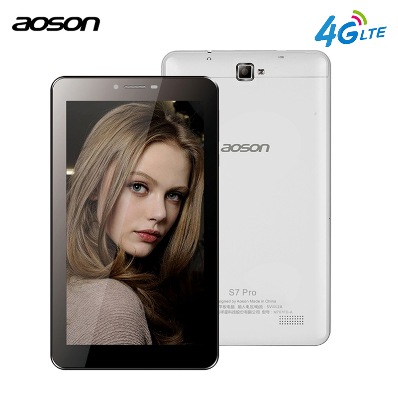 4G Aoson S7 PRO 7 inch 4G LTE-FDD Phablet HD IPS Android 6.0 Phone Call Tablet PC Quad Core Dual Cam wifi Bluetooth 7 8 10 10.1