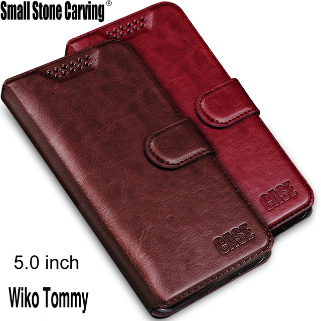 """5.0"""" New arrival Wiko Tommy Case High Quality Flip Leather Cover For Wiko Tommy Case With Credit Card Slots Wallet"""