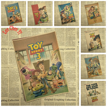 Old Painting Cartoon Anime Toy Story Movie Kraft Paper Poster Children Bedroom Wallpaper Decorative