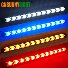 CNSUNNYLIGHT Waterproof Arrow LED DRL Sequential Turn Signal For Car White Front Daytime Running Light Amber