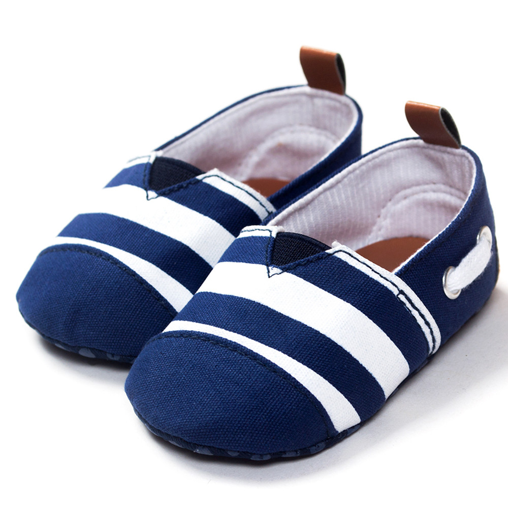 Baby Boy Shoes Shallow Slip On Baby Toddler Soft Sole Striped Infant Boy Toddler Shoes C ...
