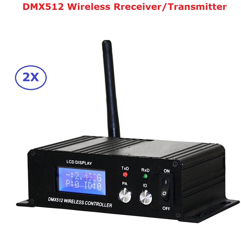 2.4G sans fil DMX512 contrôleur émetteur récepteur LCD affichage DMX contrôleur répéteur Disco lumière Led Par canettes contrôleur