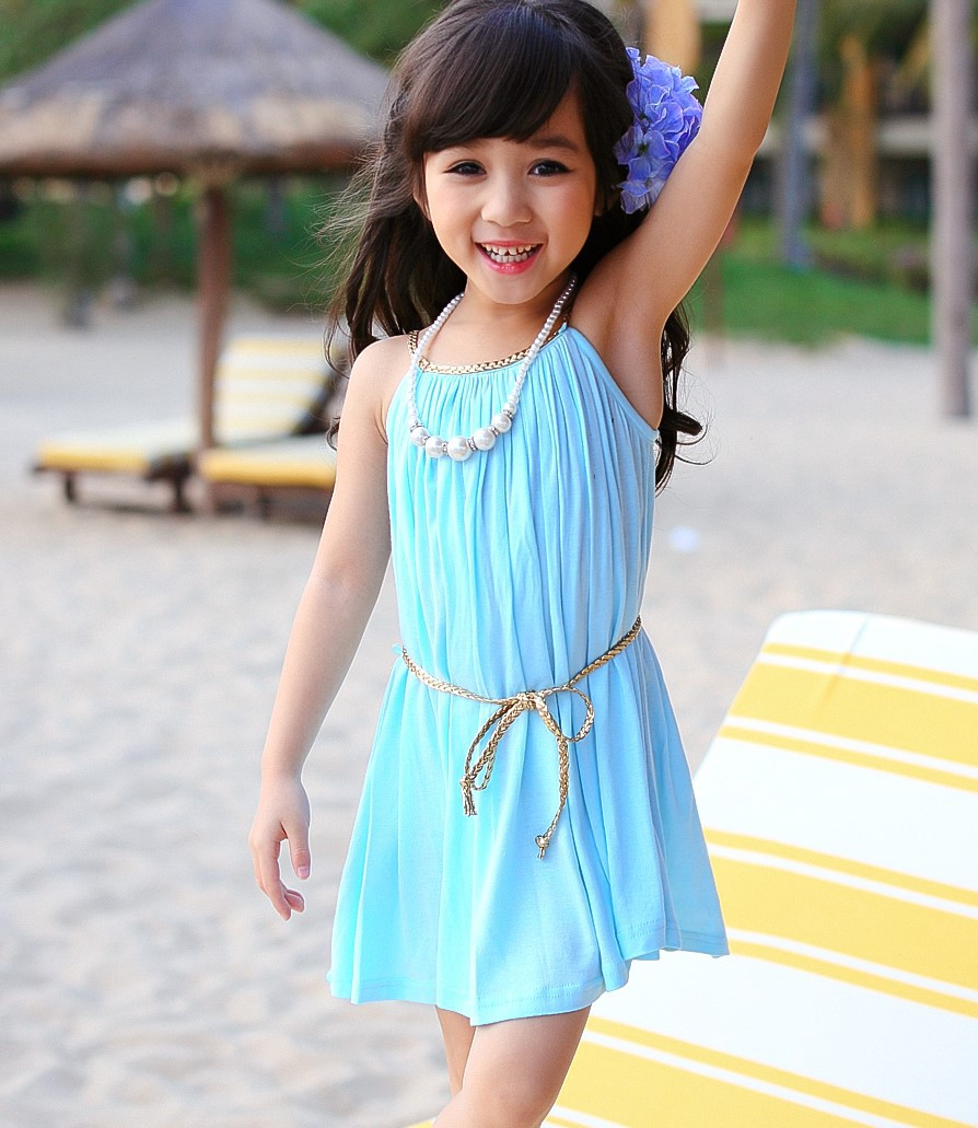Aliexpress.com : Buy Retail Kids Girls&-39- Summer Dress Candy Color ...
