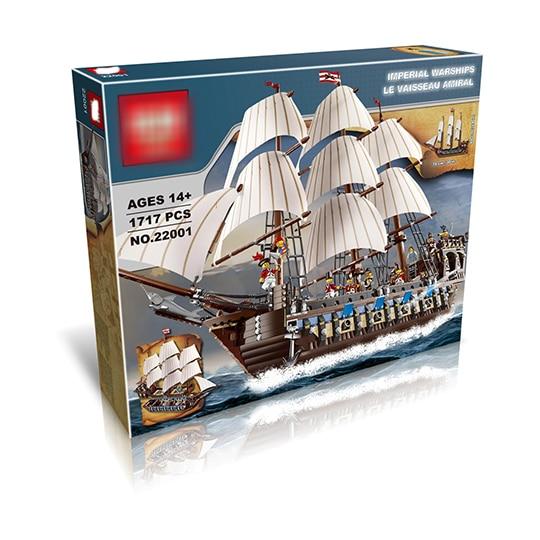 LP DHL 22001 legoing bateau pirate impérial navire de guerre modèle Kits de construction bloc briques jouets cadeau d'anniversaire 1717 pièces Compatible