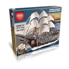 LP DHL 22001 legoing пиратский корабль Императорский военный корабль строительные наборы блоки кирпичи игрушки подарок на день рождения 1717 шт. Совместимость