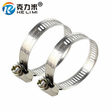 10x High Quality Metal Clamp Fuel Line Pipe Worm Gear Clips Fasteners Adjustable American Stainless Steel Drive Hose Clamps 60pcs adjustable 8 38mm range stainless steel fuel line pipe worm gear drive hose hoop pipes clamps assortment kit spring clip
