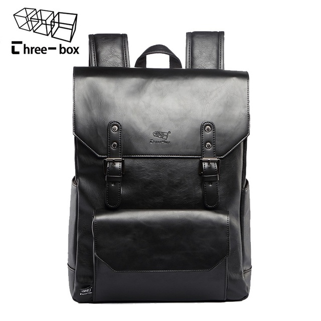 Men Leather Large Capacity Backpack Youth Travel Rucksack School Book Bag Male Laptop Casual Bagpack Shoulder Bags