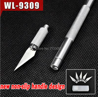 Non Slip Metal Wood Carving Tools Fruit Food Craft Sculpture Engraving Utility Knife With 6 Blades